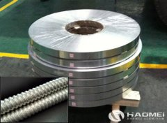 Aluminum strip for cable armour