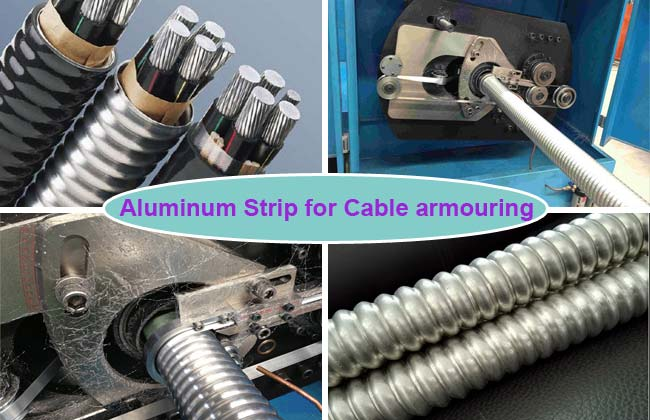 aluminium strips for cable armouring