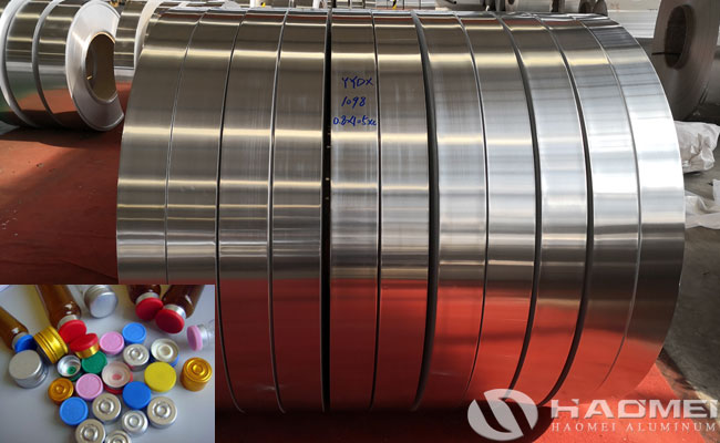 aluminum strip for injection vial seals